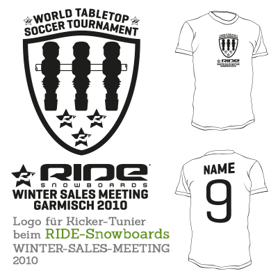 T-Shirt für RIDE Snowboards - Kicker-Turnier / SALES MEETING