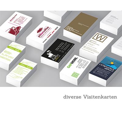 diverse Visitenkarten